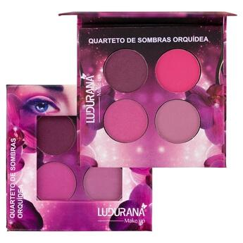 Ludurana Paleta de Sombras Matte Quarteto Orquídea