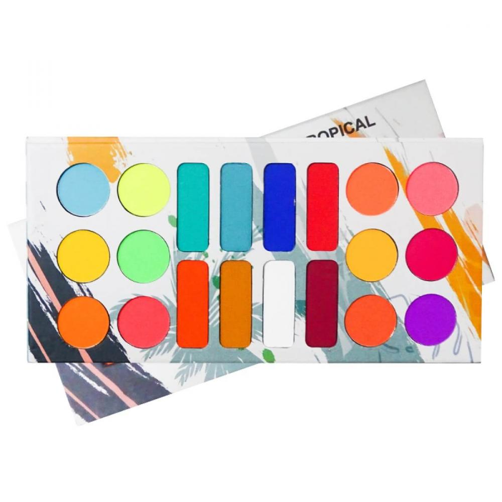 Ludurana Paleta de Sombras Matte Tropical - Neon - 20 cores