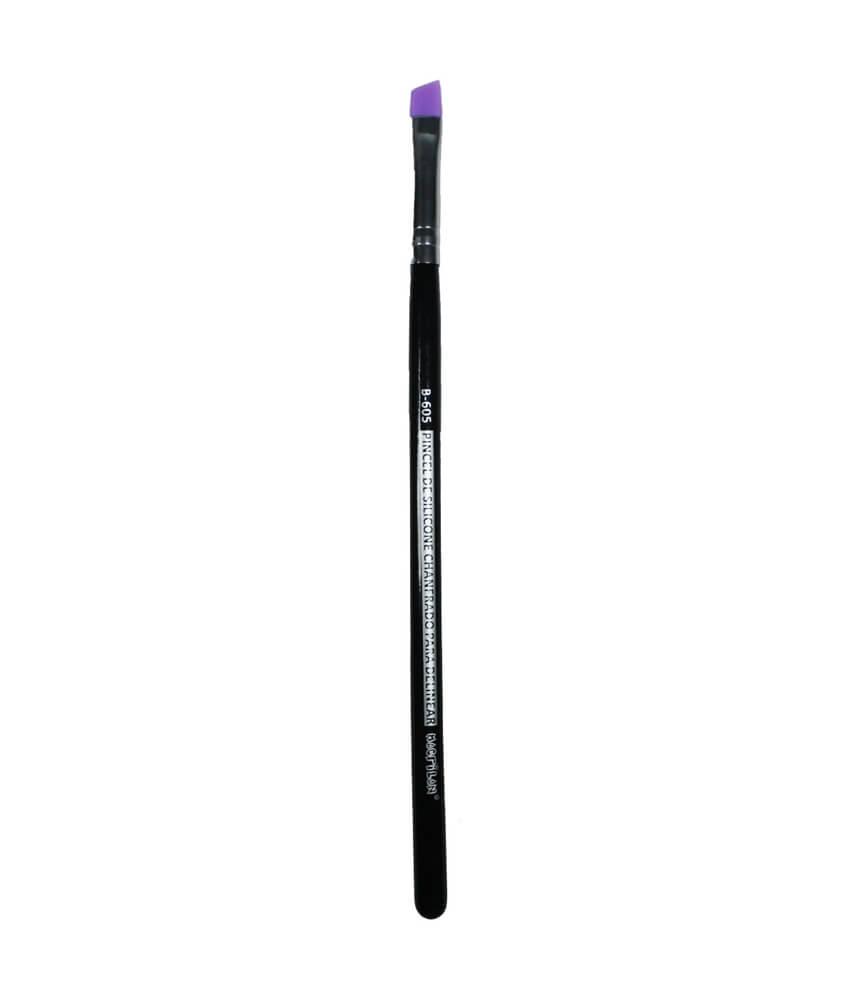 Macrilan Pincel de silicone Chanfrado para Delinear B605