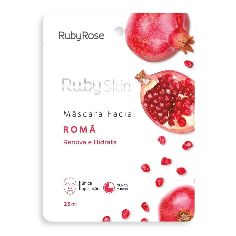 Ruby Rose Máscara Facial Romã - Renova e Hidrata
