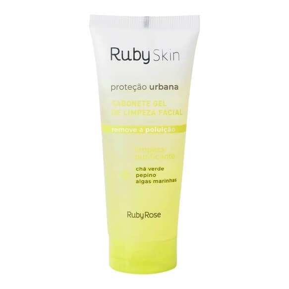 Ruby Rose Sabonete Gel de Limpeza Facial Proteção Urbana