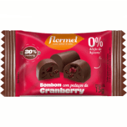 BOMBOM ZERO 18X15G CHOCOLATE/CRANBERRY FLORMEL