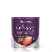 Colágeno Sin 300g Morango Açaí - Sanavita