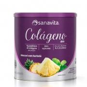 Colágeno Skin 300g Sabor Abacaxi com Hortelã - Sanavita