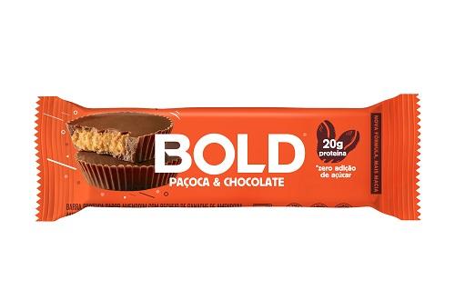 BOLD BAR | 60G | PAÇOCA/CHOCOLATE | BOLD NUTRITION
