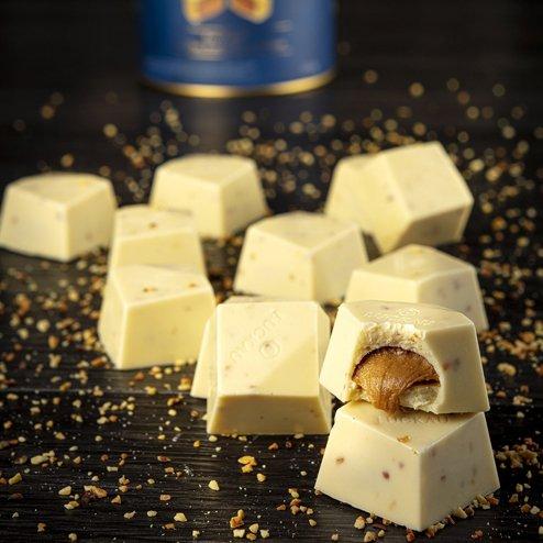 Bombom de Chocolate Belga Branco Zero Açúcar - Amendoim - 200g