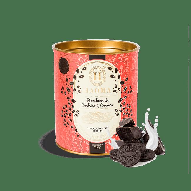 Bombom de Chocolate com recheio de Cookies & Cream | 200G | HAOMA