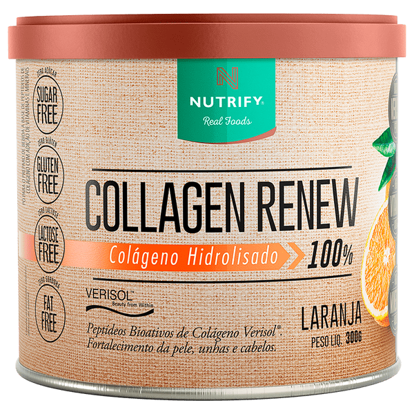 Collagen Renew 300g Sabor Laranaj - Nutrify