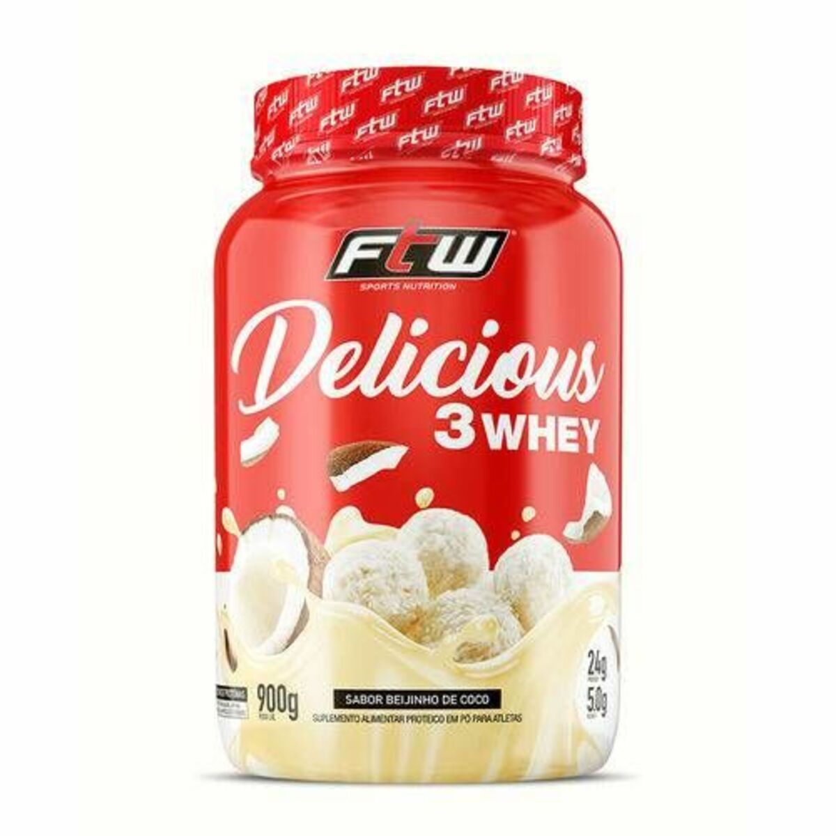 DELICIOUS 3 WHEY 900G BEIJNHO COCO FTW SPORTS NUTRITION