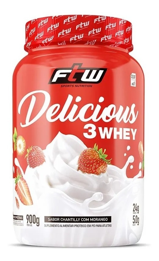 DELICIOUS 3 WHEY 900G IORGUTE GREGO FTW SPORTS NUTRITION