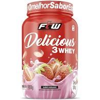 DELICIOUS 3 WHEY | 900G MORANGO | FTW SPORTS NUTRITION