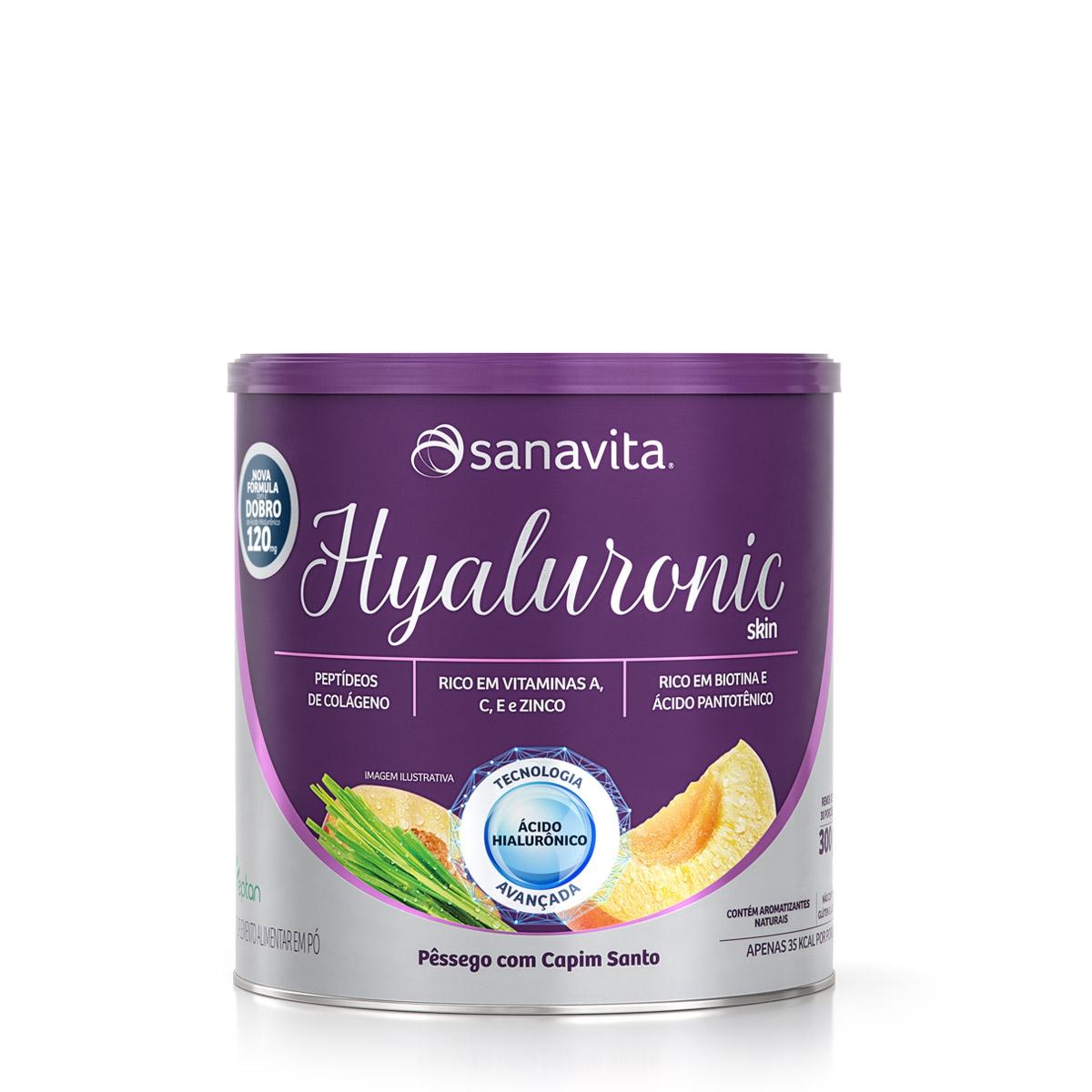 HYALURONIC SKIN PÊSSEGO COM CAPIM SANTO | 300G | SANAVITA