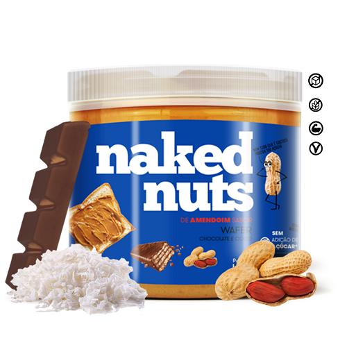 PASTA DE AMENDOIM SABOR WAFER DE CHOCOLATE (450G) - NAKED NUTS