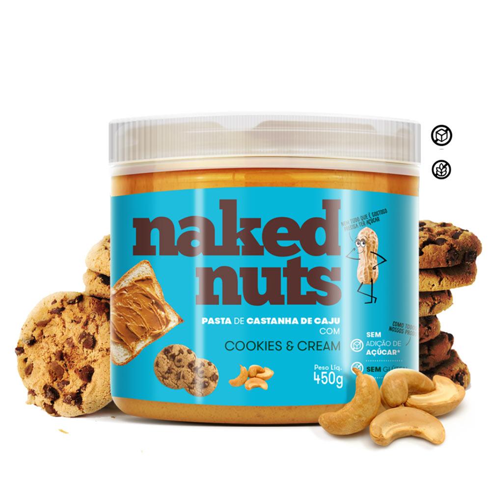 PASTA CASTANHA CAJU 450G COOKIES CREAM NAKED NUTS