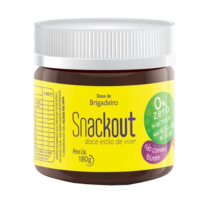 Snackout Brigadeiro Zero Açúcar e Zero Lactose - 180g