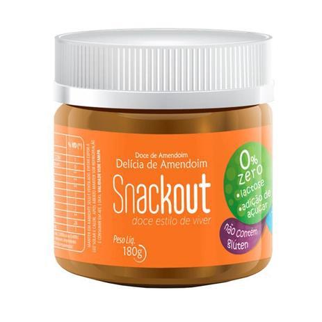Snackout Delícia de Amendoim Zero Açúcar e Zero Lactose - 180g