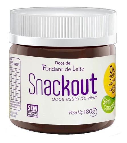 Snackout Fondant de Leite Zero Açúcar e Zero Lactose - 180g