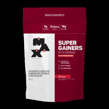 SUPER GAINERS 3KG | MORANGO | MAX TITANIUM