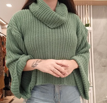 Cropped Tricot Gola
