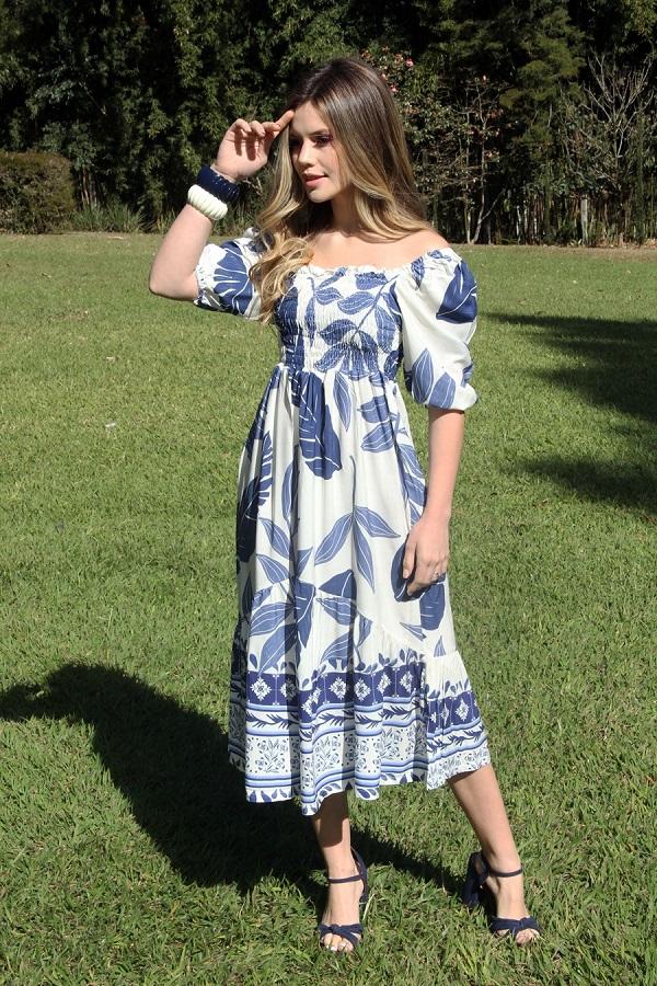 Vestido Viscose Bina