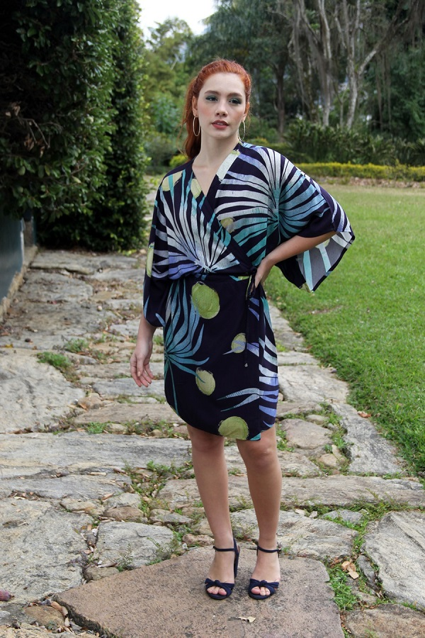 Vestido Viscose Transpassado