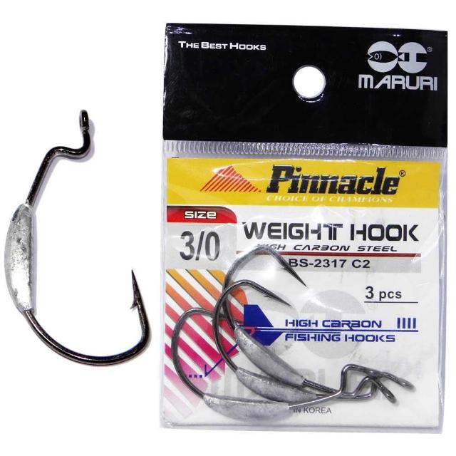 Anzol Off Set Lastreado Weight Hook Pinnacle