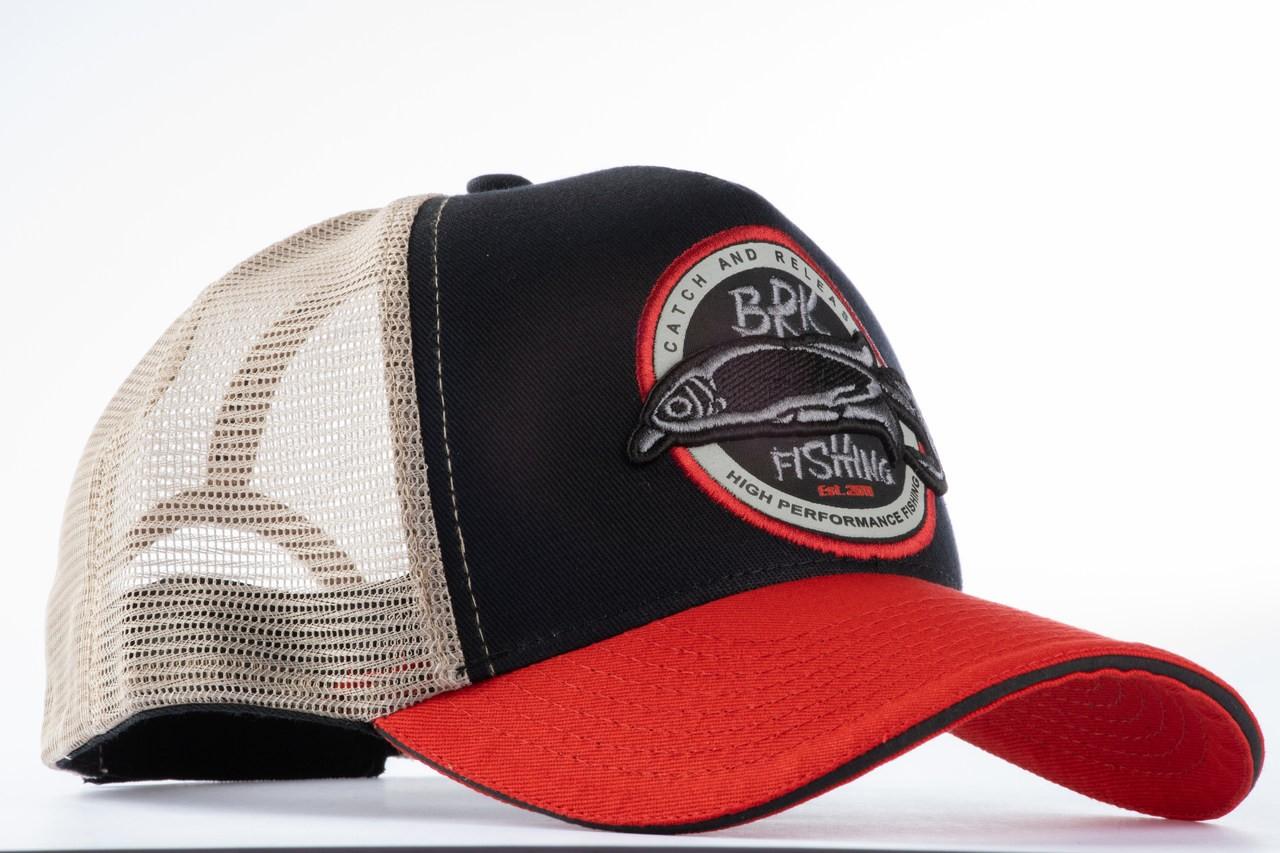 Boné BRK Lures Preto-Vermelho B088