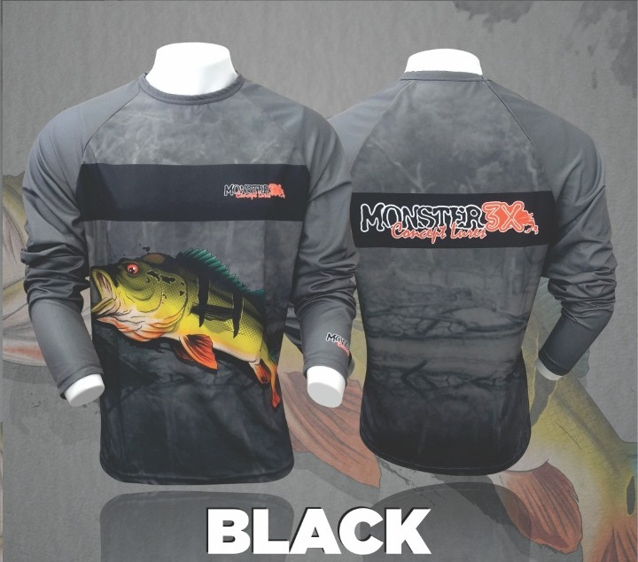 Camisa Combat Fish Black Monster 3x