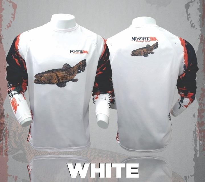 Camisa Combat Fish White Monster 3x