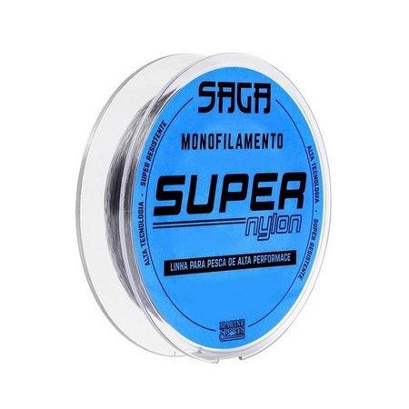 Linha Monofilamento Super Nylon Saga Cinza 300m Marine Sports