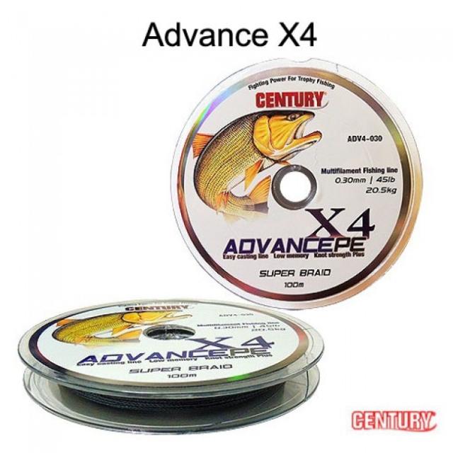 Linha Multifilamento Advance PE 4x 100m Century