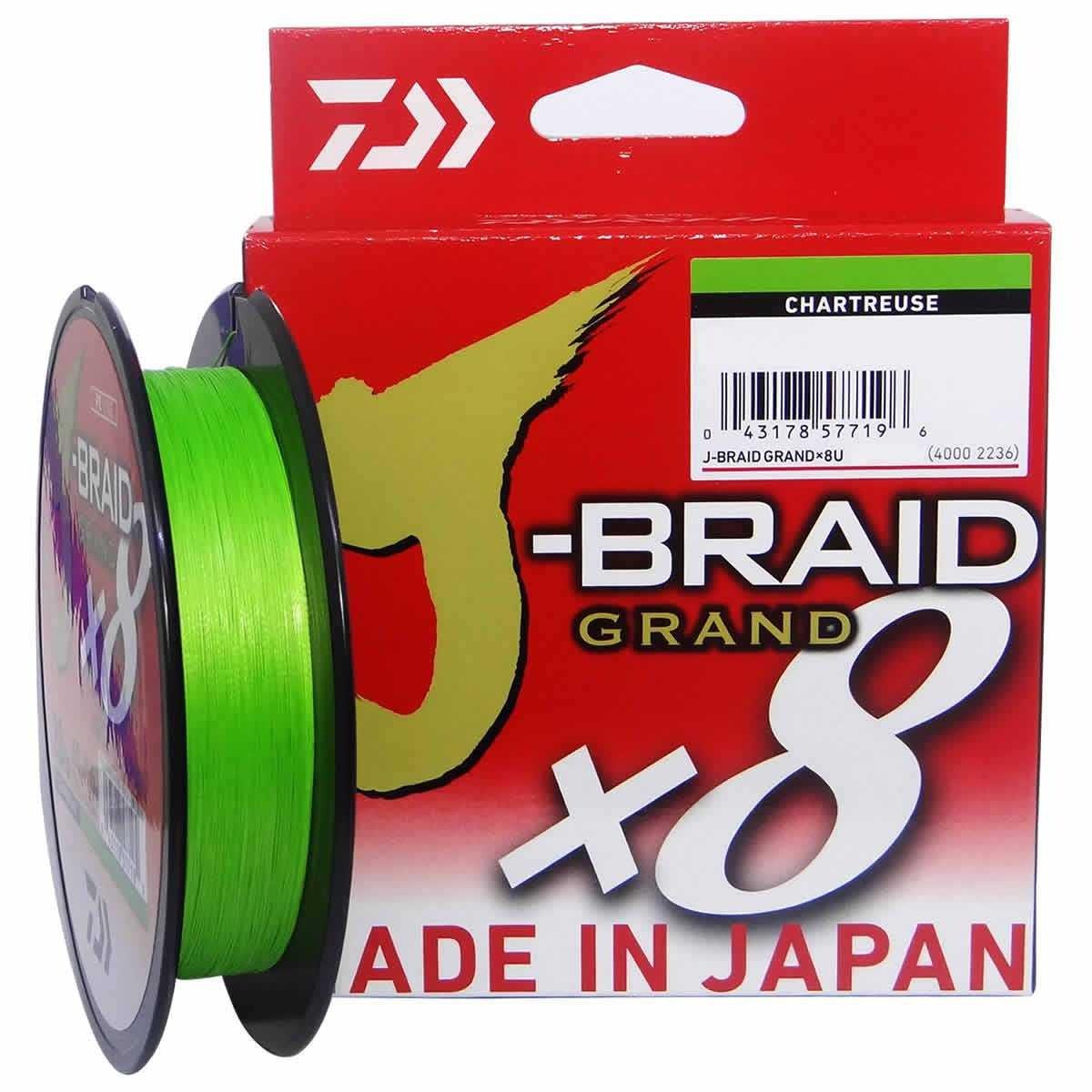 Linha Multifilamento J-Braid Grand x8 Chartreuse 150yd Daiwa