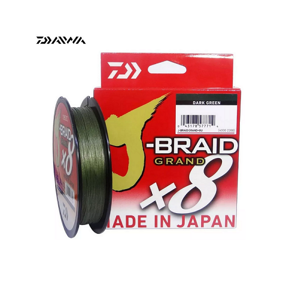 Linha Multifilamento J-Braid Grand x8 Dark Green 150yd Daiwa