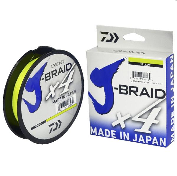 Linha Multifilamento J-Braid x4 Yellow 150yd Daiwa