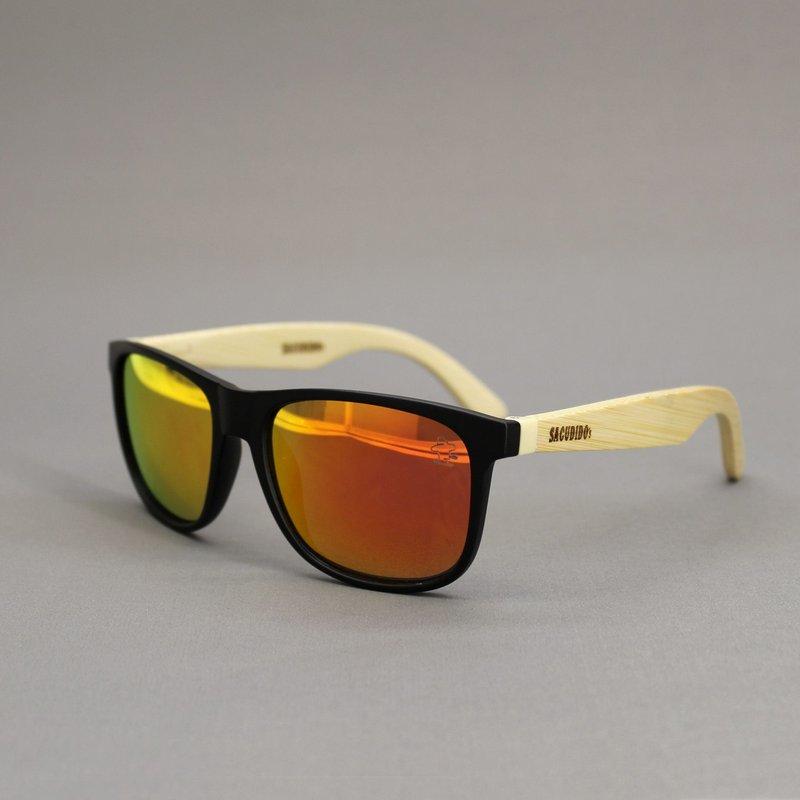 Óculos de Sol Bambu - Lente Laranja - Sacudidos