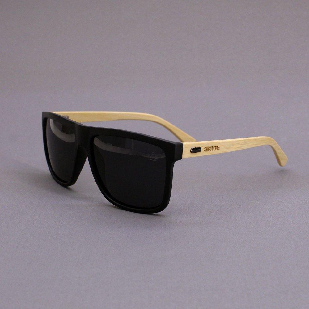 Óculos de Sol Bambu - Lente Preta - Sacudidos
