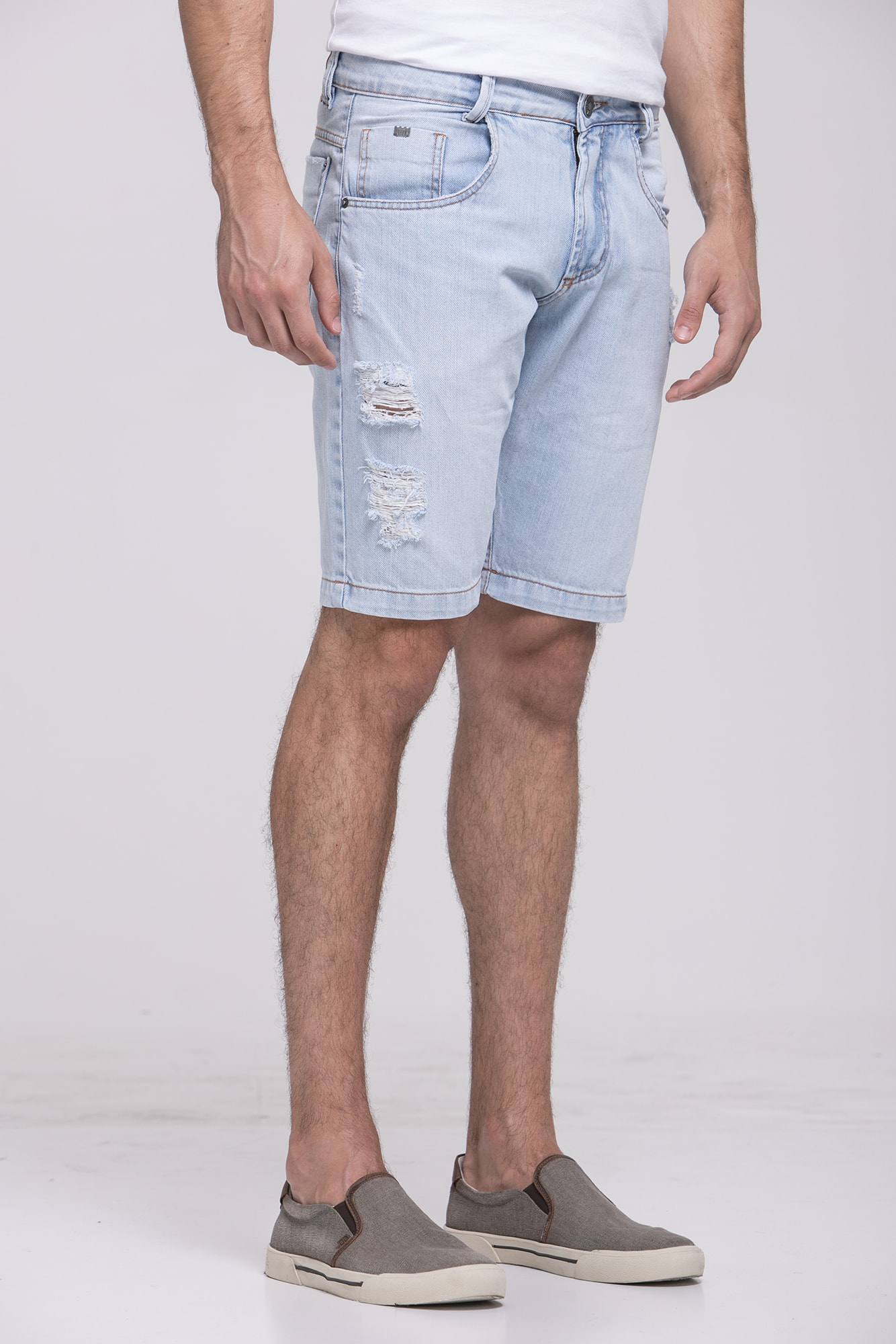 Bermuda Jeans High Stone Destroyed