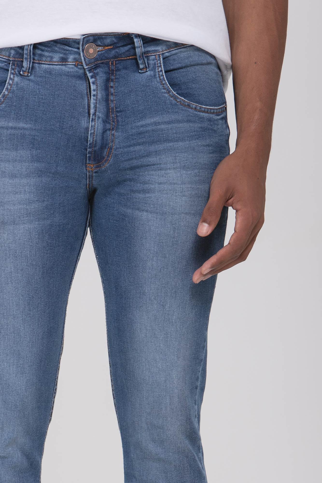 Calça Jeans Slim Fit Basic Delavê