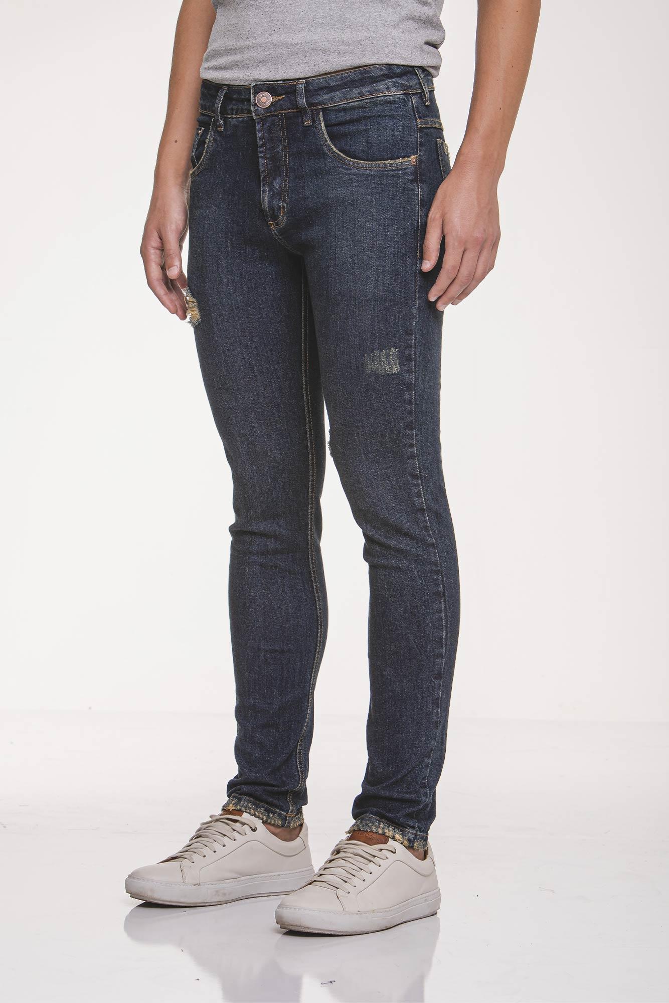 Calça Jeans Sarja Destroyed