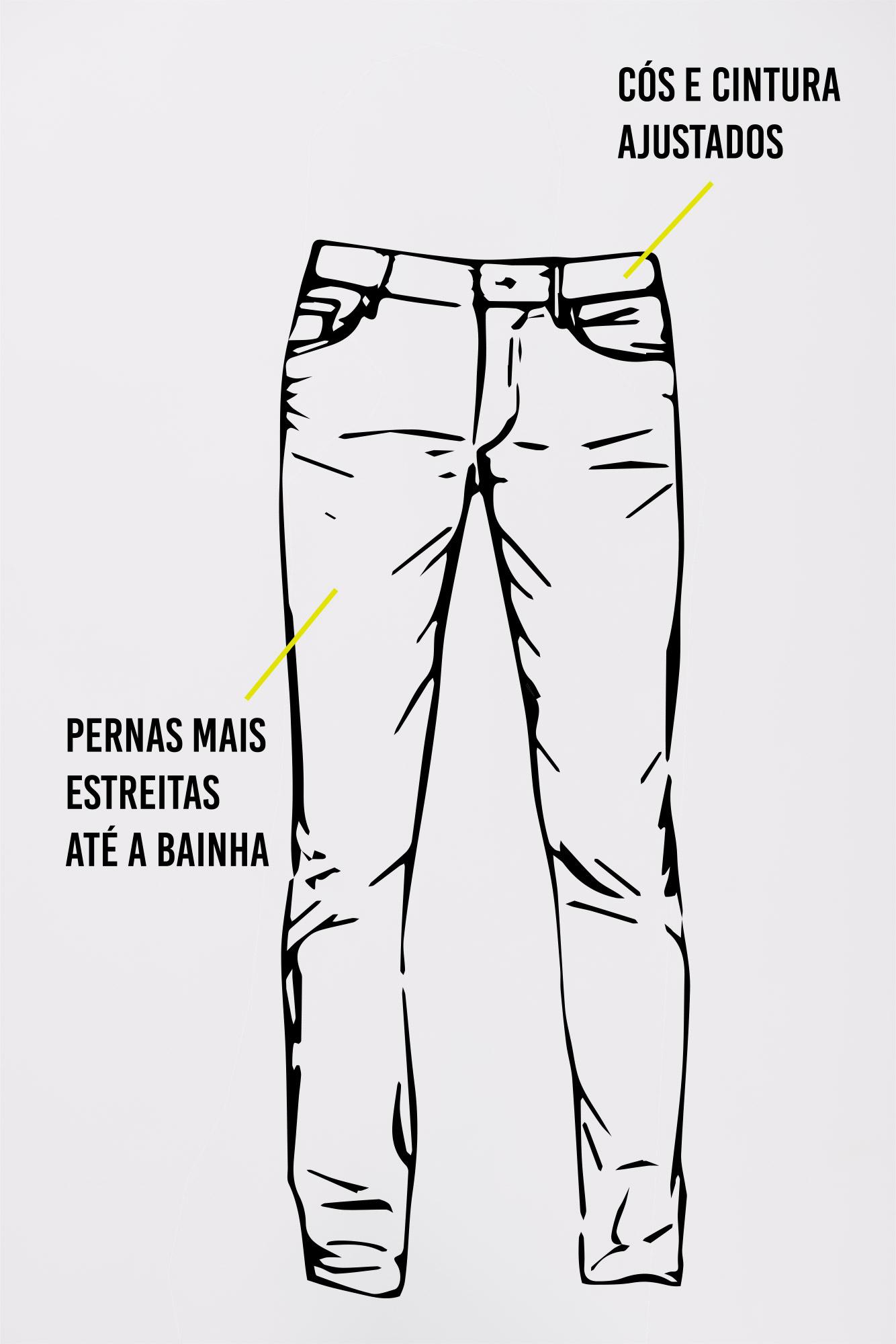 Calça Jeans Slim Fit Black Black