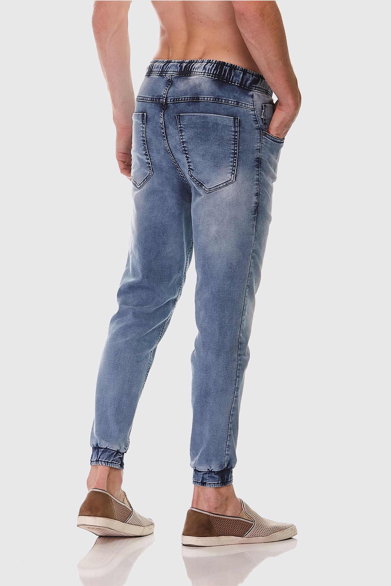 Calça Jogger Jeans Delavê