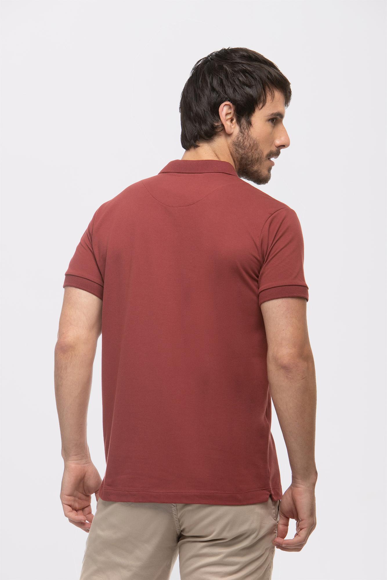 Camisa Polo Basic Cotton Bordô