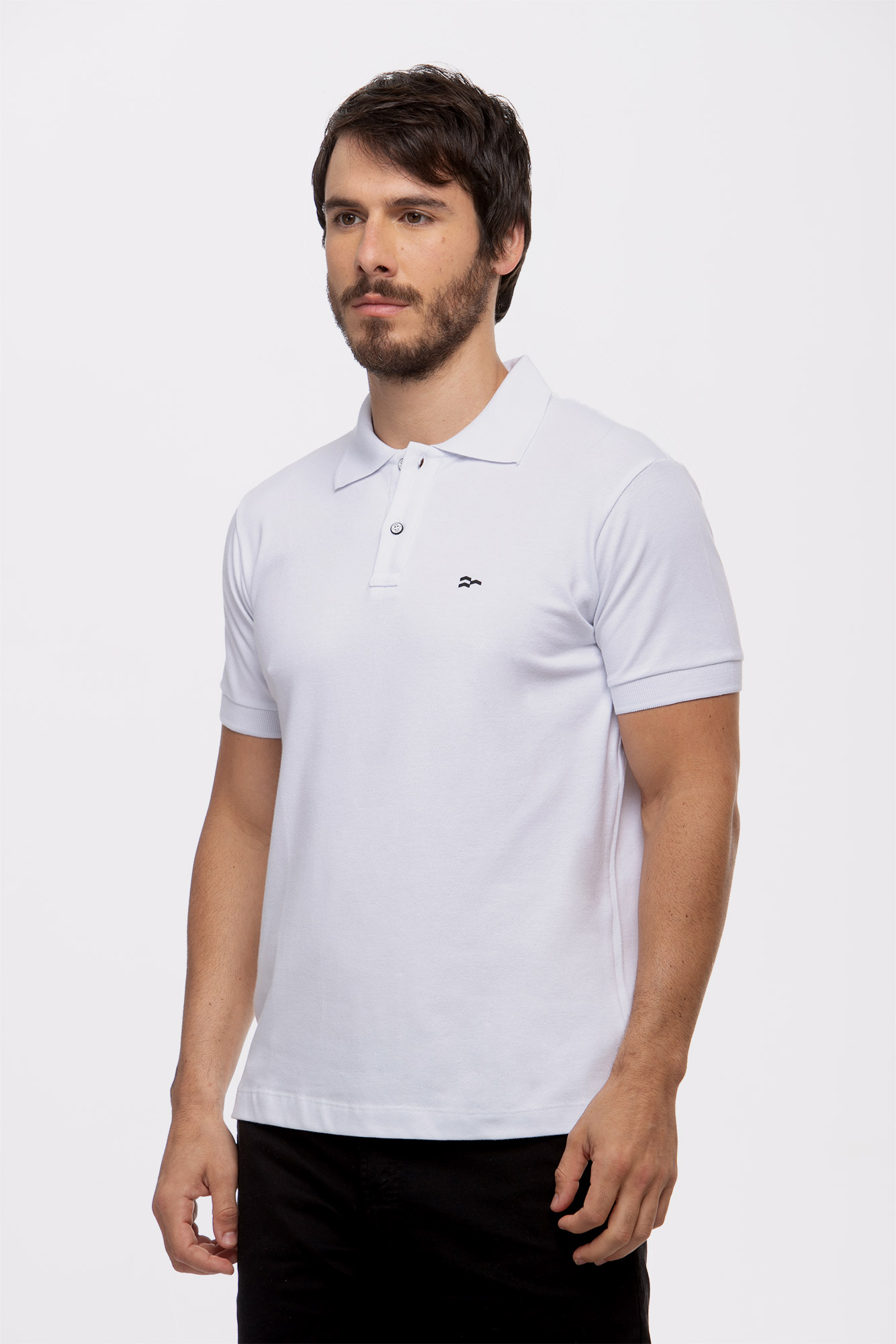 Camisa Polo Basic Cotton White