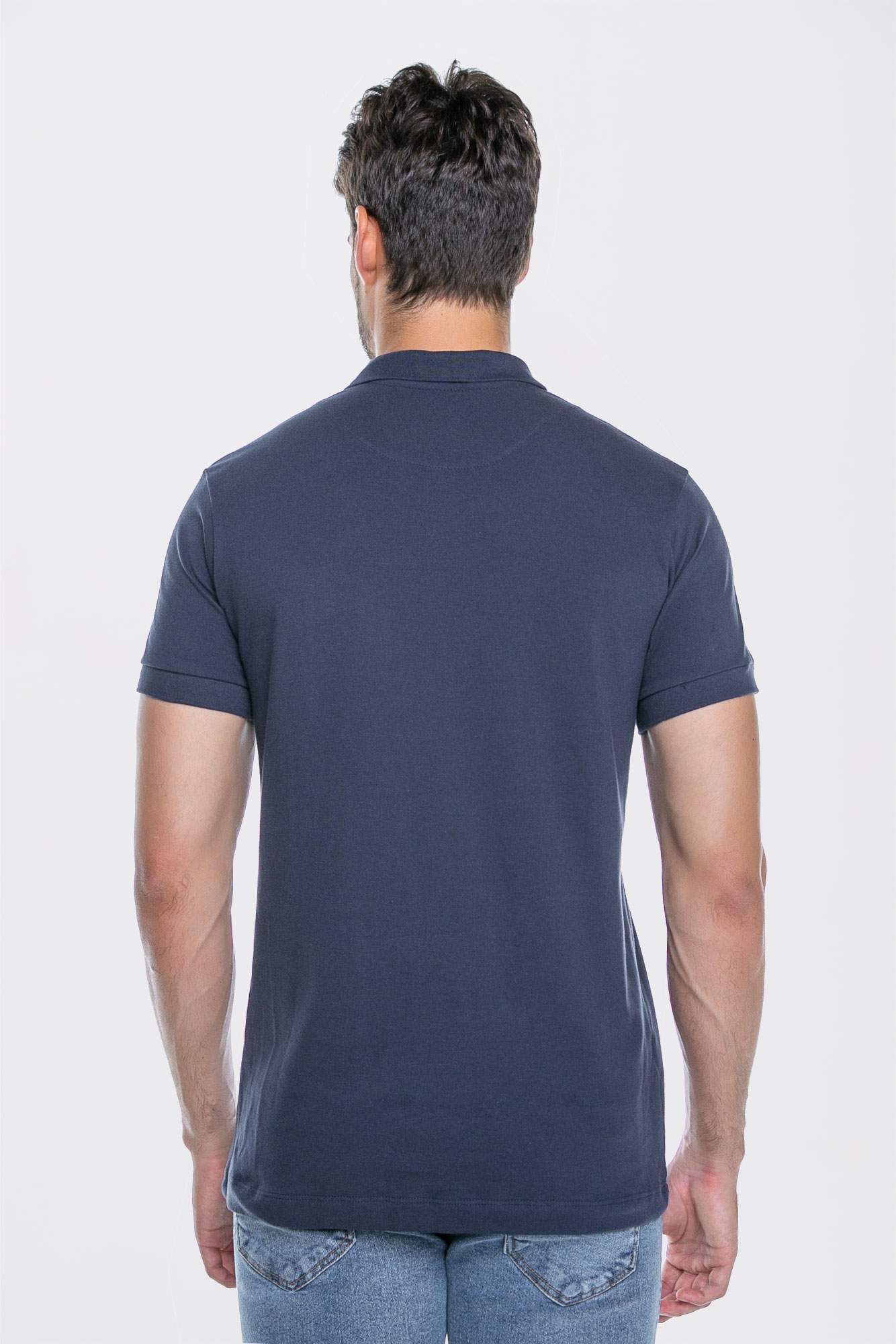 Camisa Polo Basic Dark Blue