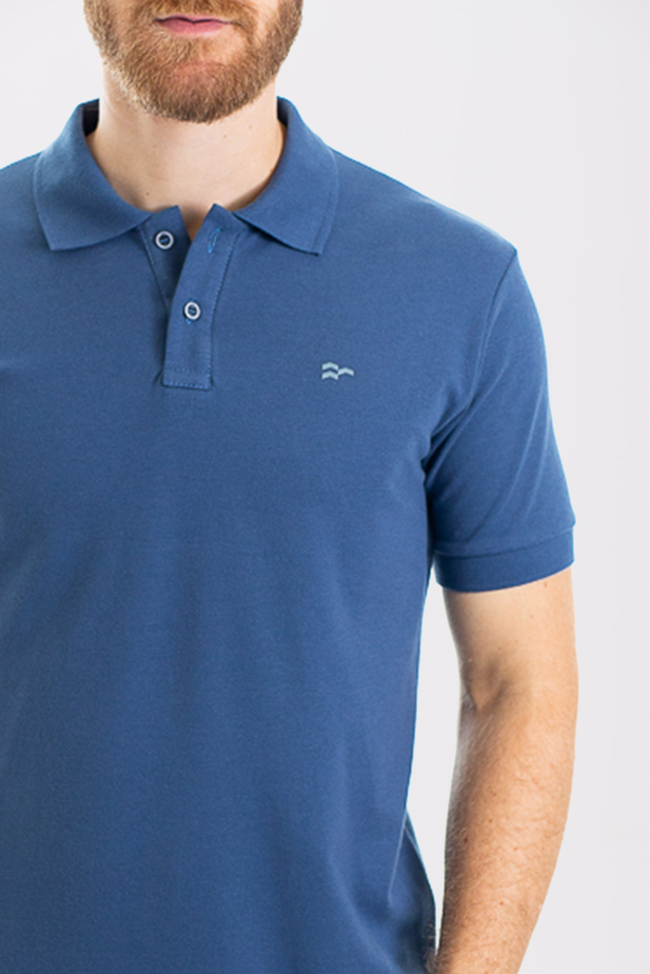 Camisa Polo Confort Cotton Blue
