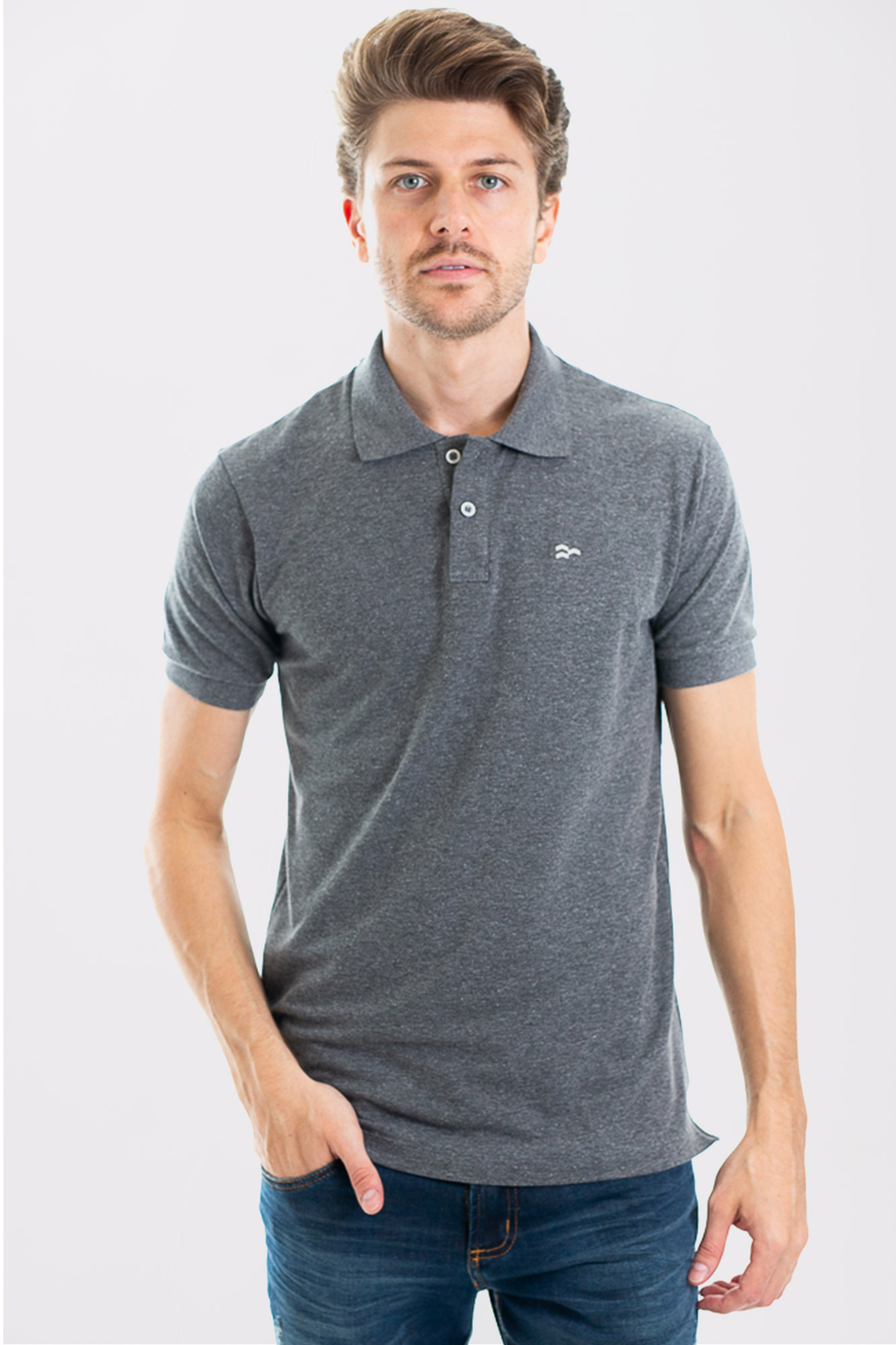 Camisa Polo Confort Cotton Dark Gray