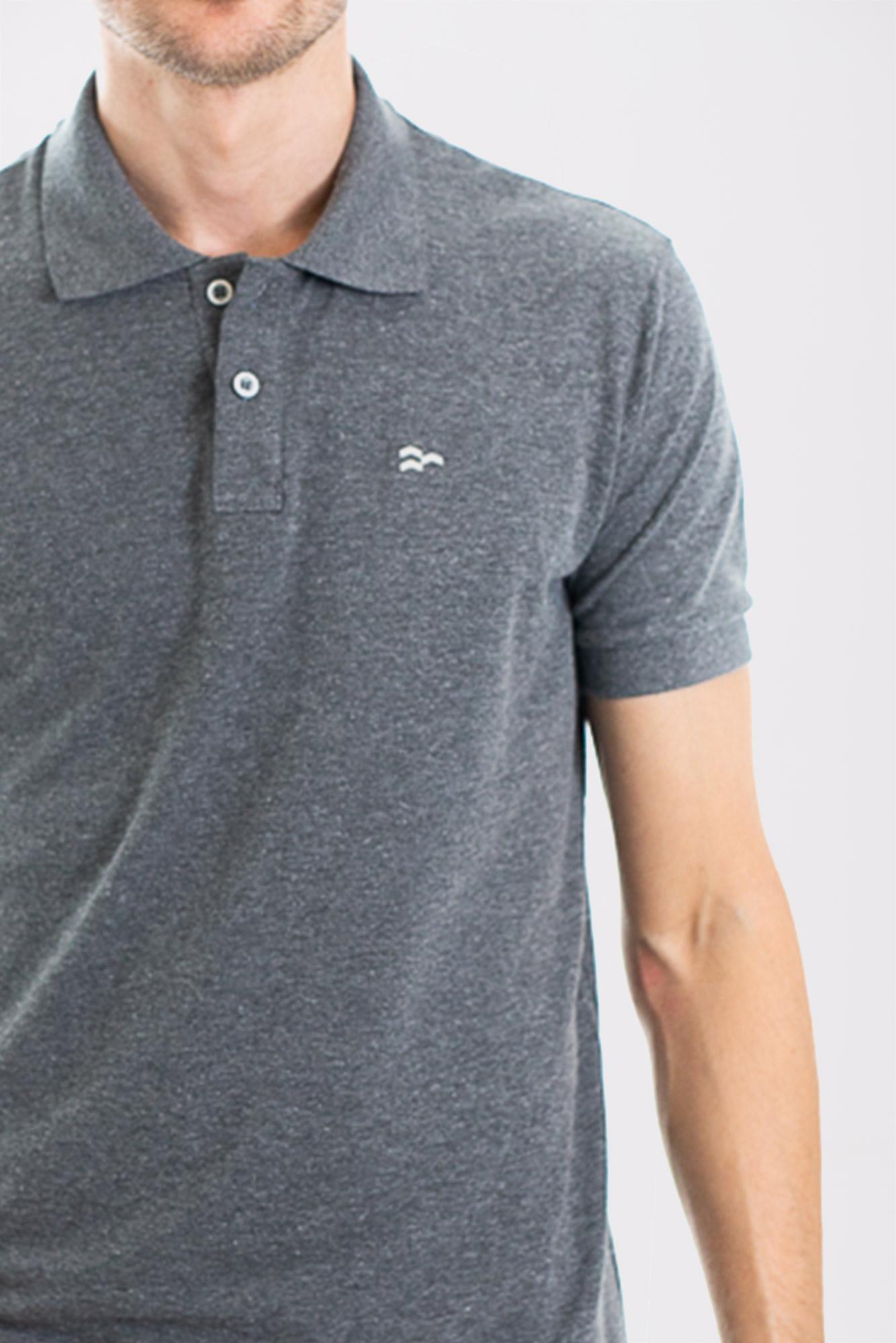 Camisa Polo Confort Cotton Dark Gray