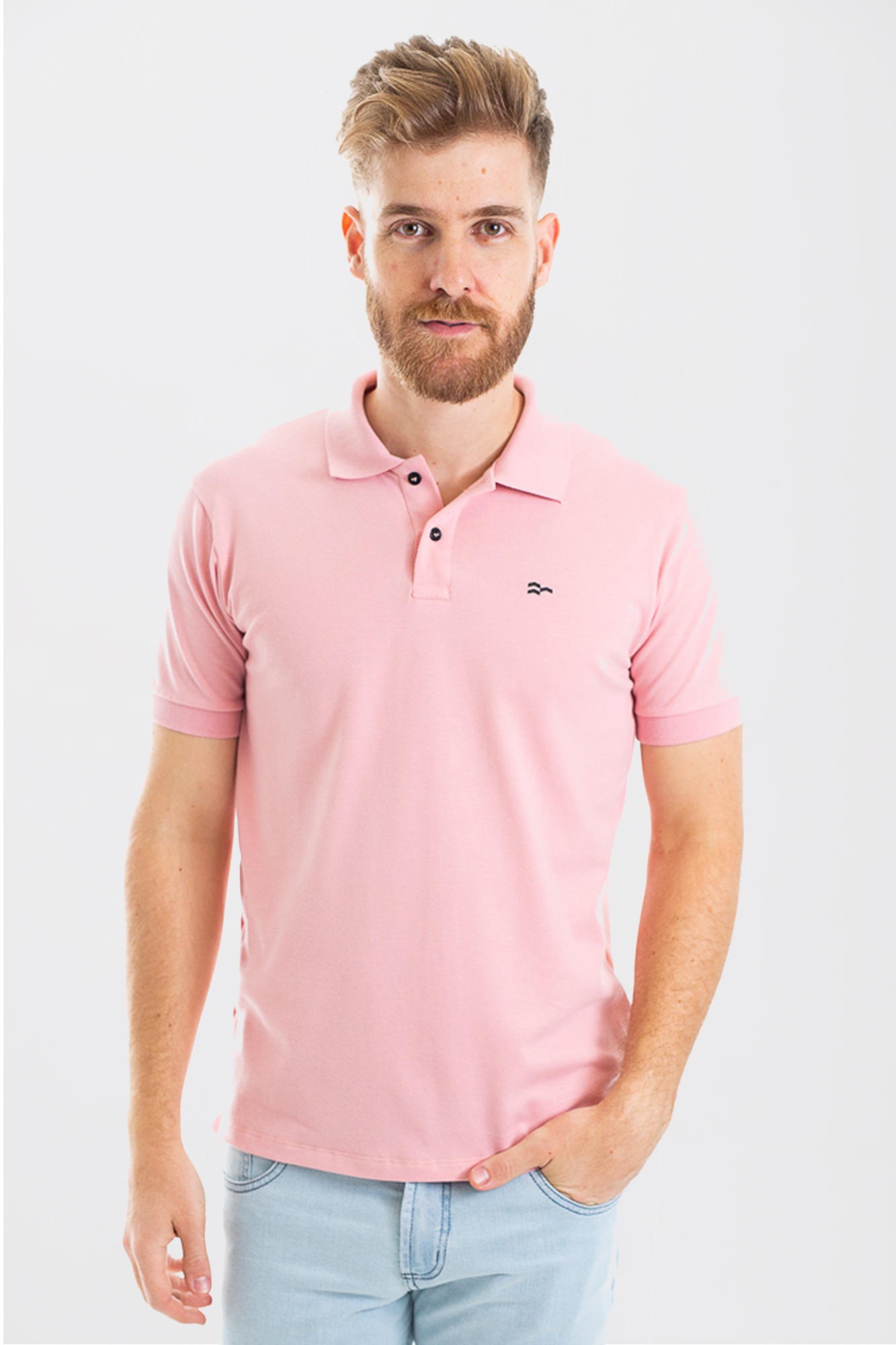 Camisa Polo Confort Cotton Salmão