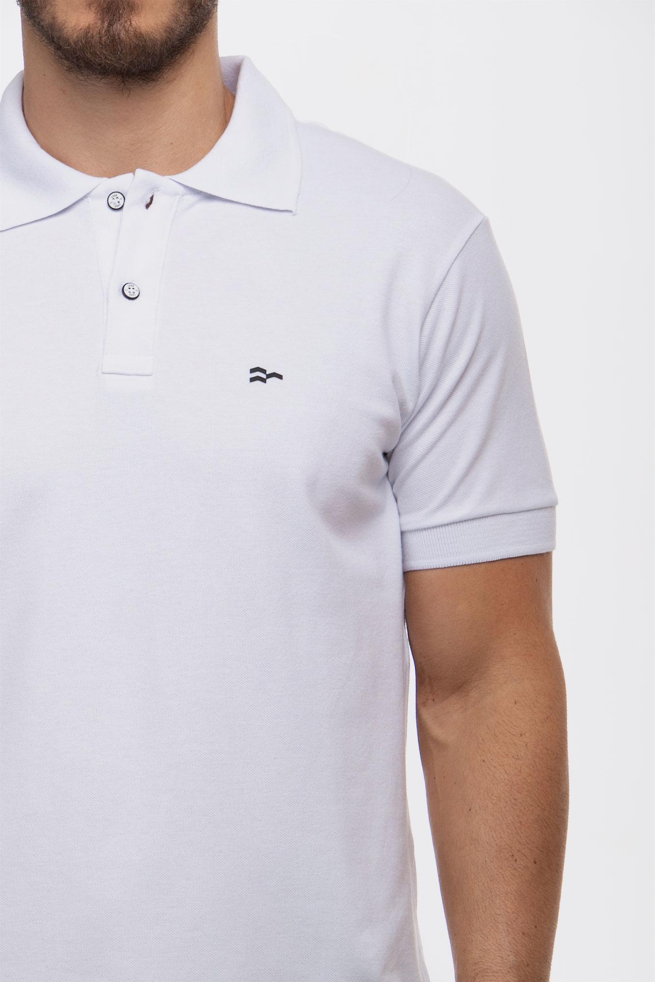 Camisa Polo Confort Cotton White