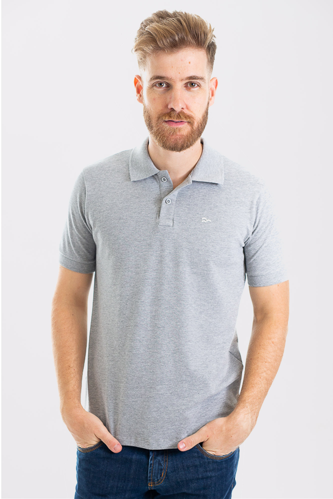 Camisa Polo Cotton Light Gray